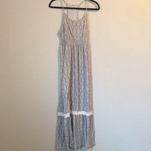 Grey Boho Dress